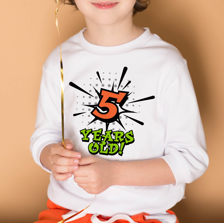 Boys 5th Birthday Superhero SVG file example image 2