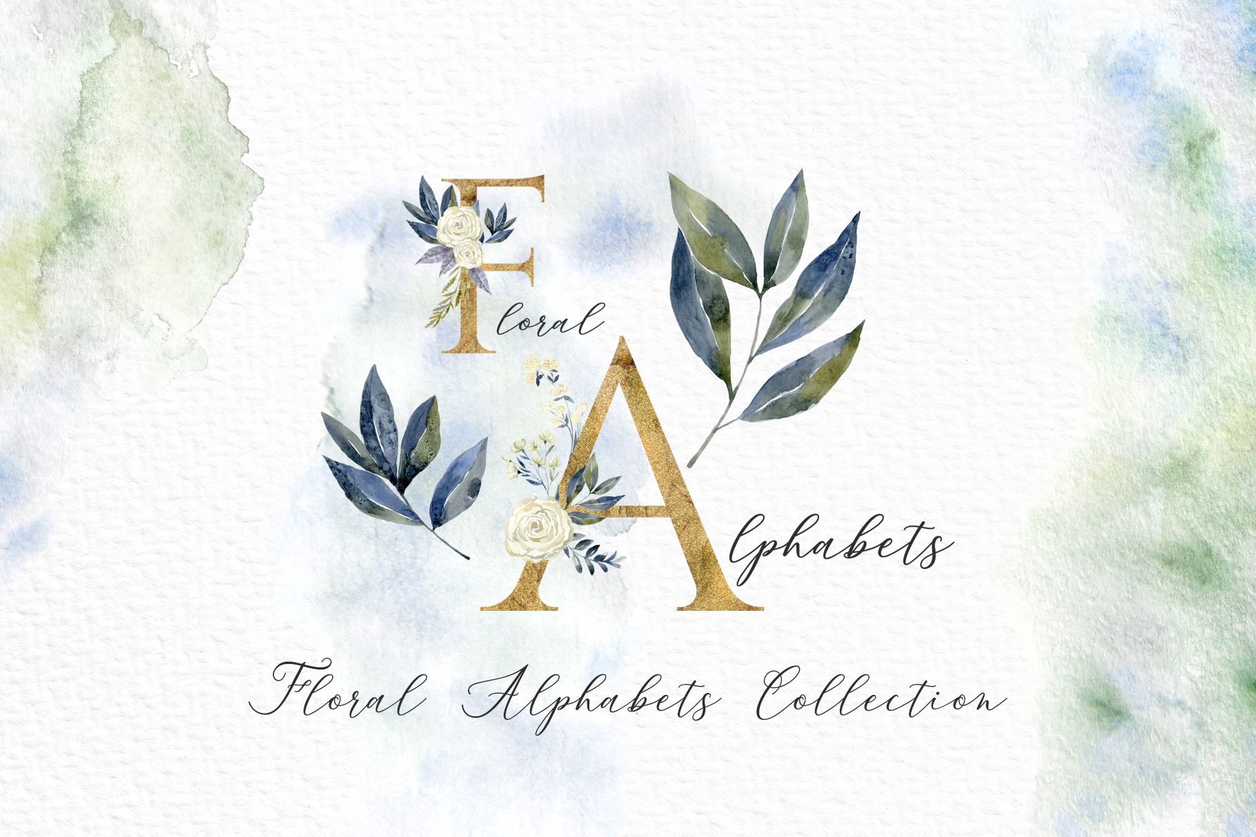 Floral Alphabets Collection. example image 1