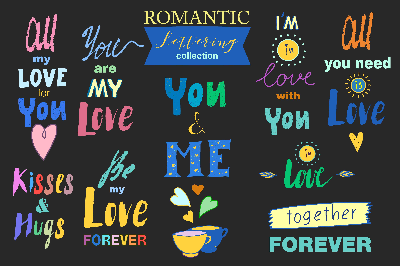Hand drawn Romantic design kit example image 3