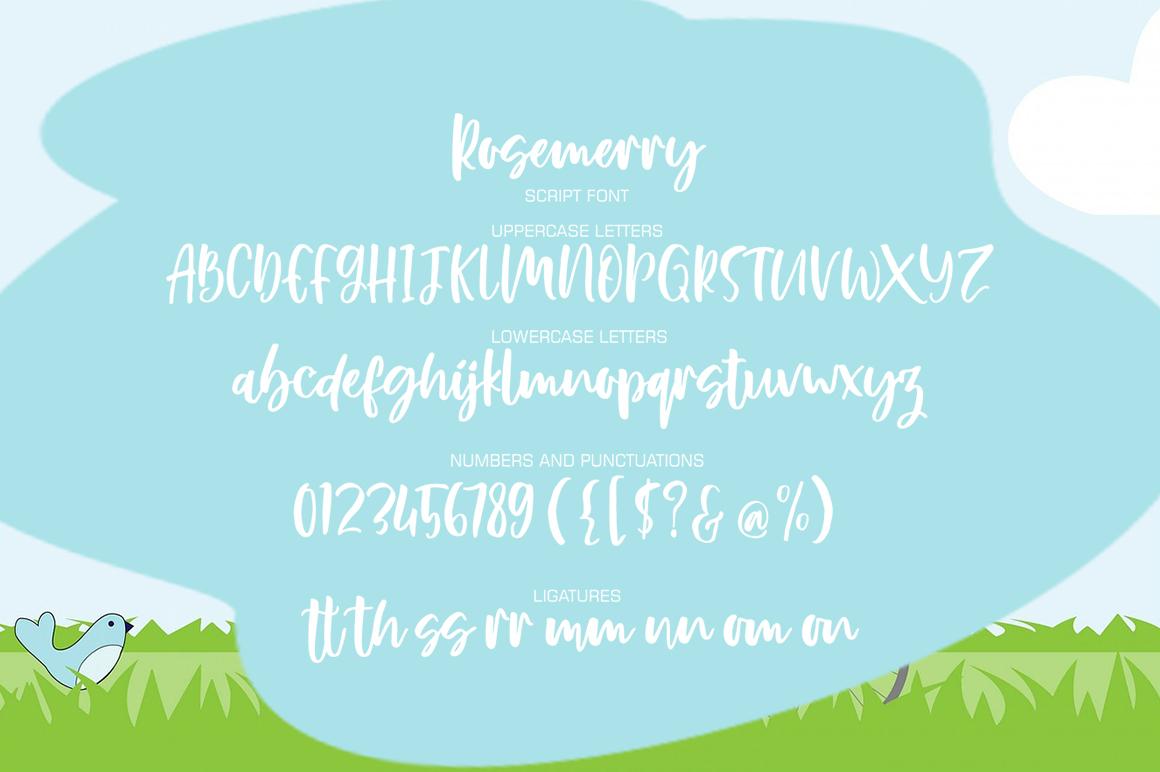 Rosemerry Script example image 5
