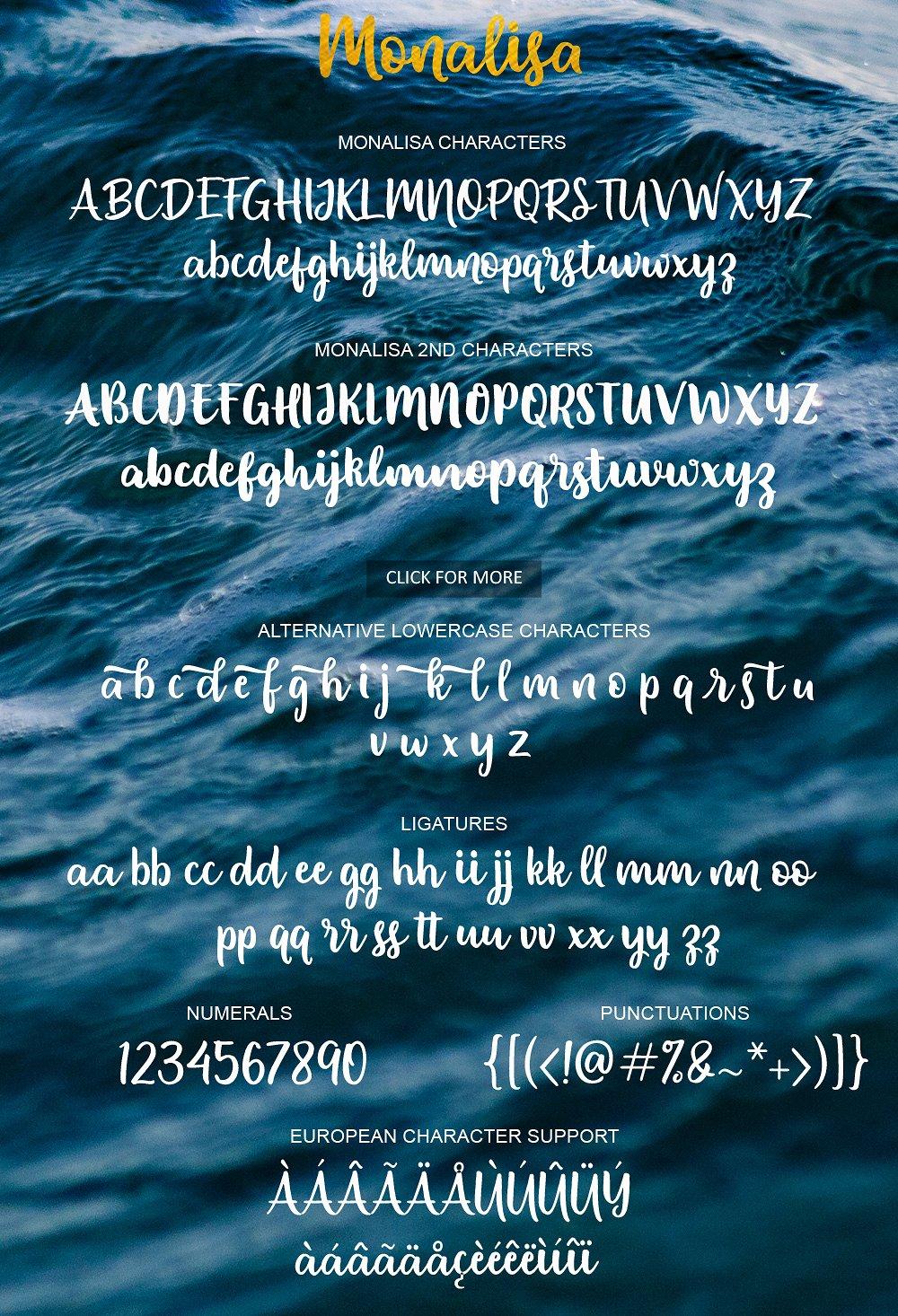 Monalisa Script example image 6