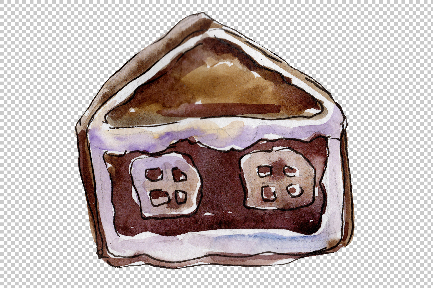 Christmas sweets watercolor png example image 3