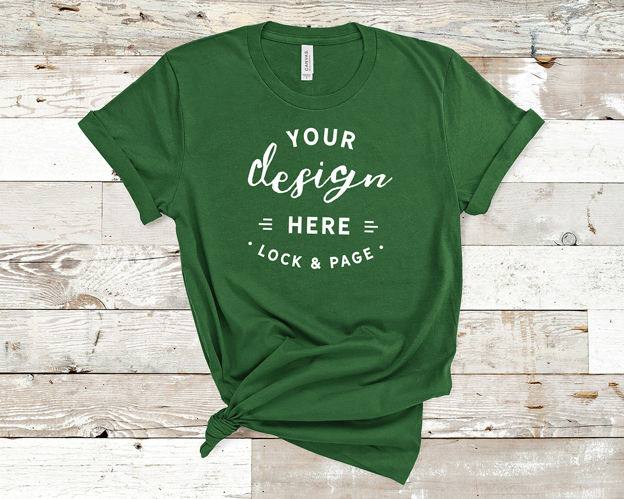 Bella Canvas 3001 Mockup T-Shirt Bundle All Colors On Wood example image 13