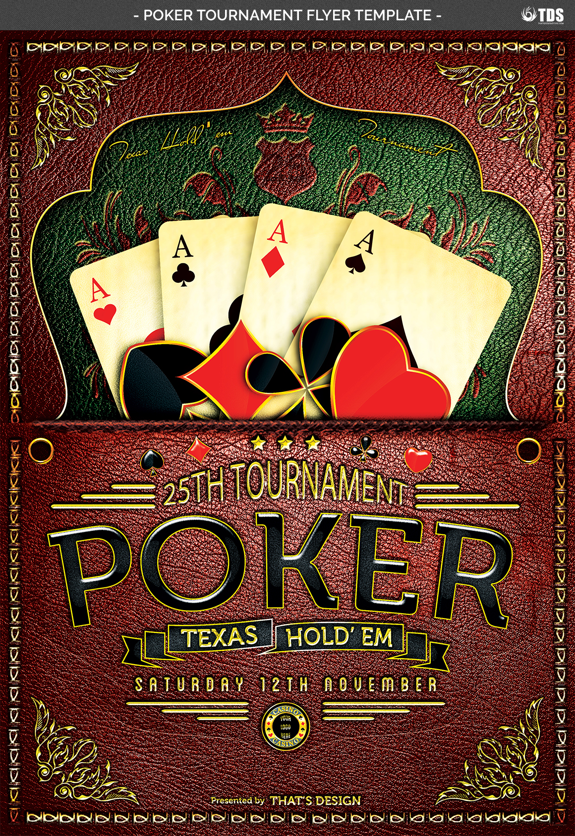 Poker Tournament Flyer Template example image 5