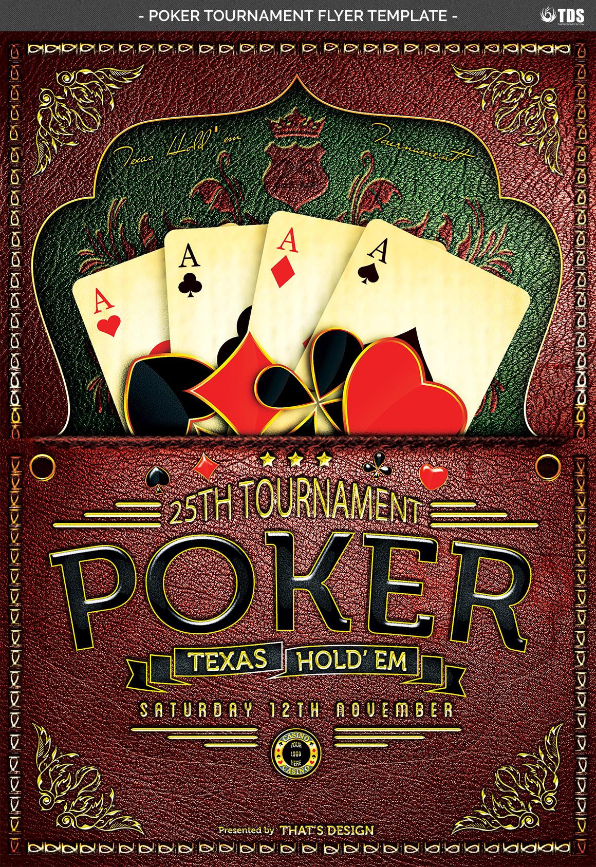 Poker Tournament Flyer Template By Tdst Design Bundles