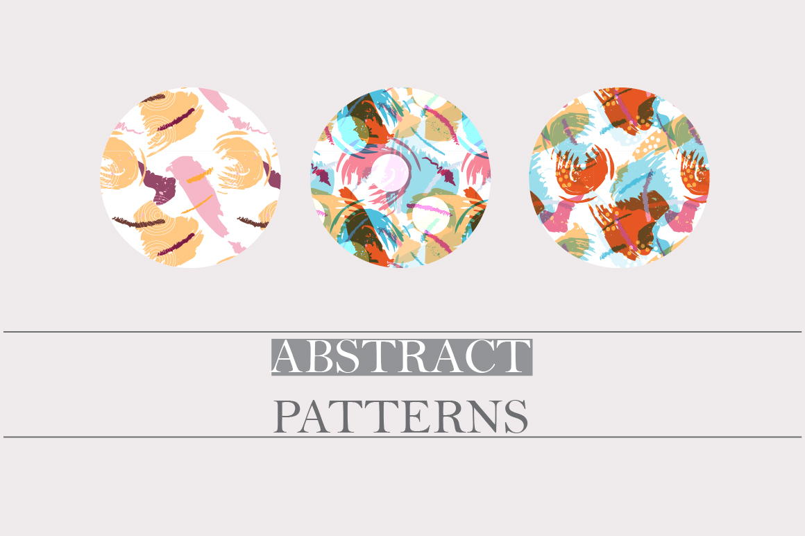 Abstract brush strokes patterns example image 5