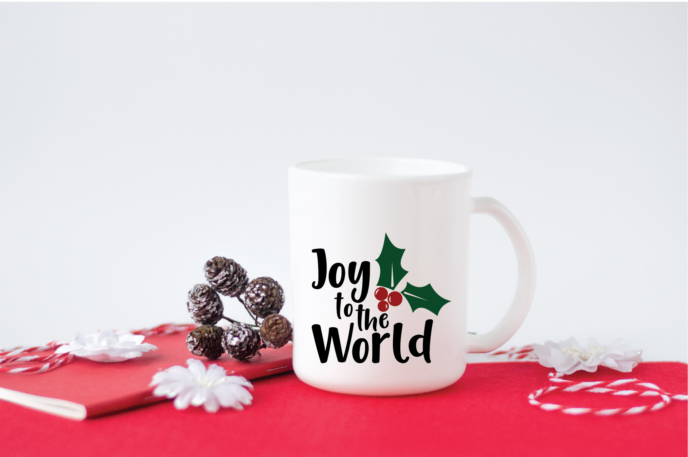 Joy to the World SVG Cut File - Christmas SVG example image 4