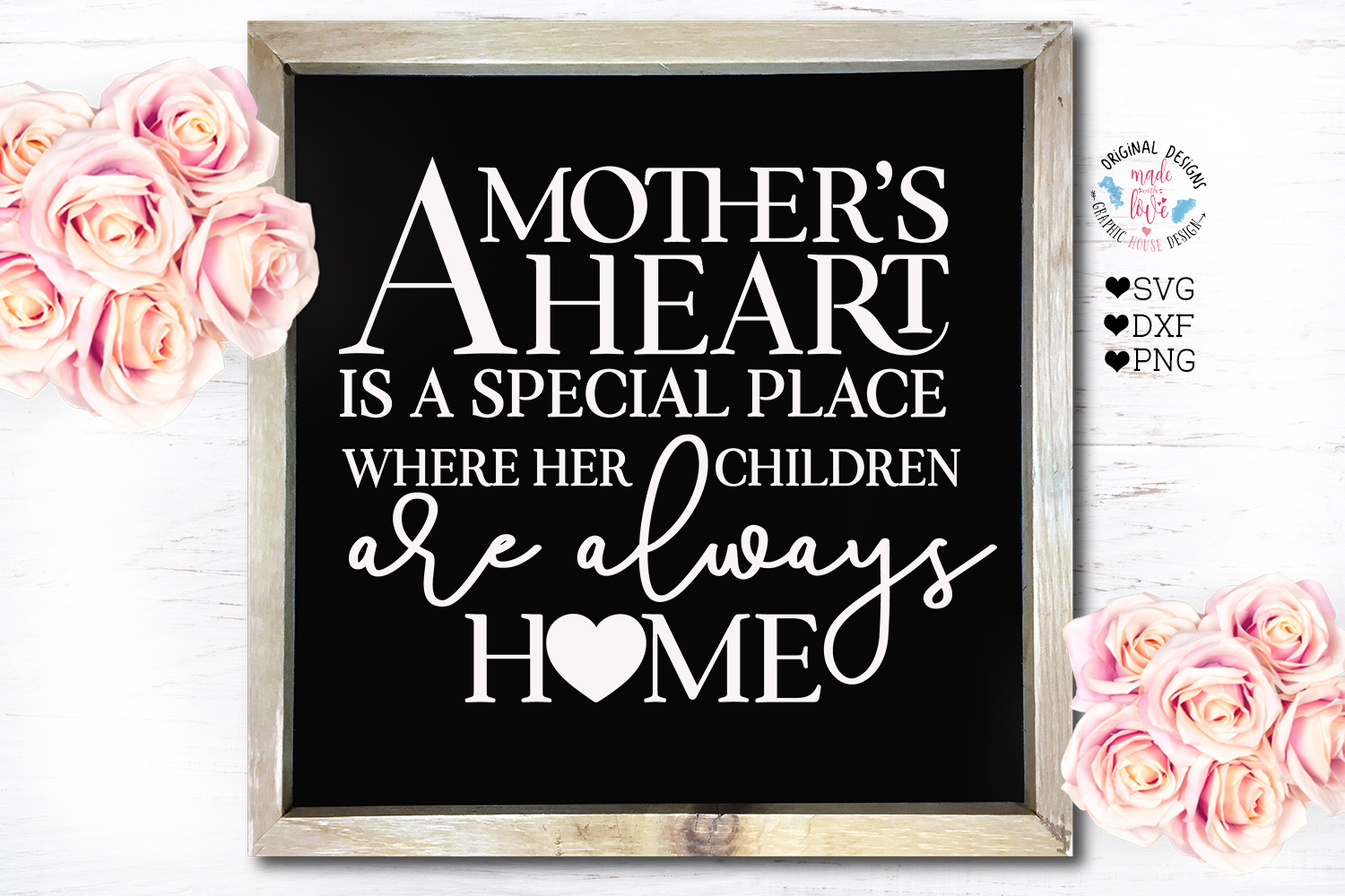 Mother's Day SVG - A mother's Heart is a special place example image 2