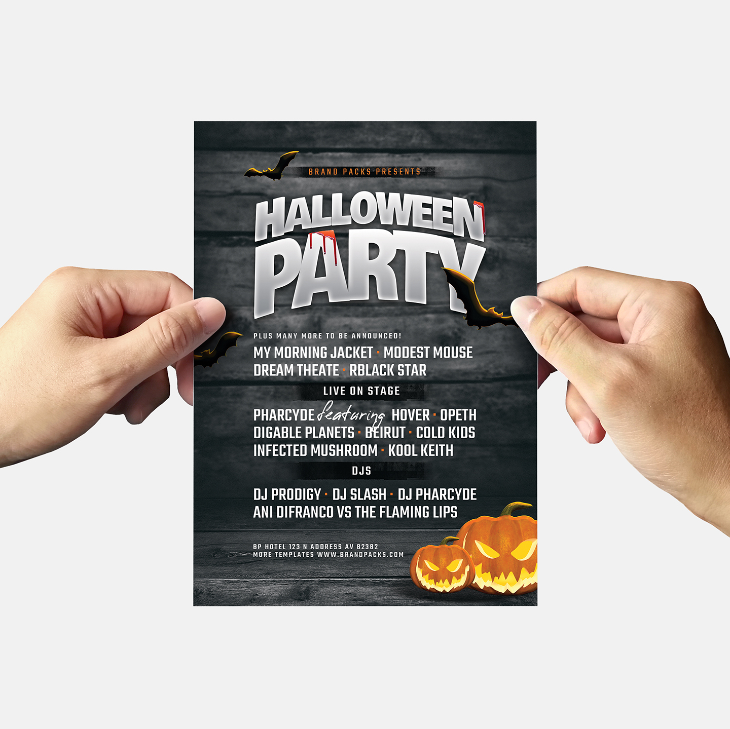 Halloween Party Flyer Template example image 6