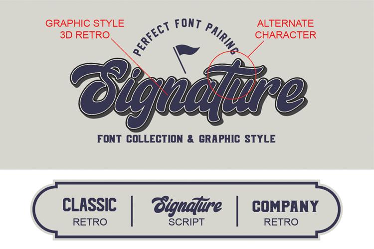 Signature Script Trio Font example image 2
