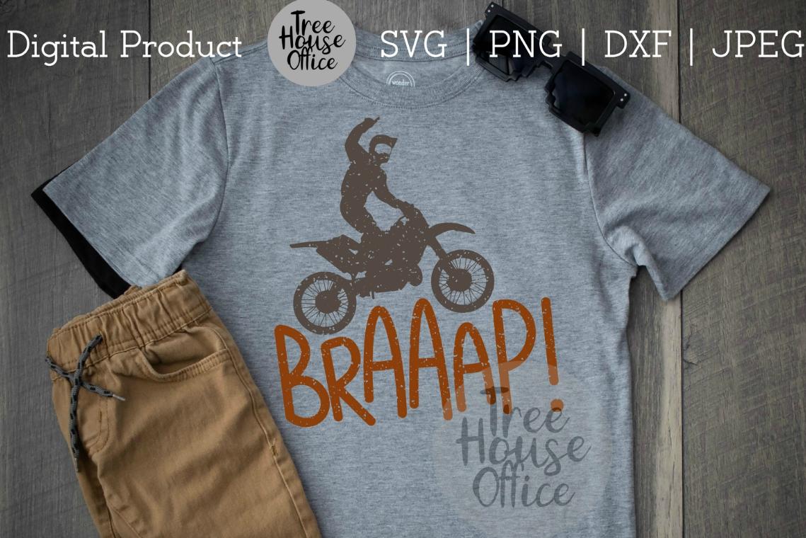 Braaap Funny Dirtbike Motocross Dirt Bike Motorcross SVG PNG example image 4