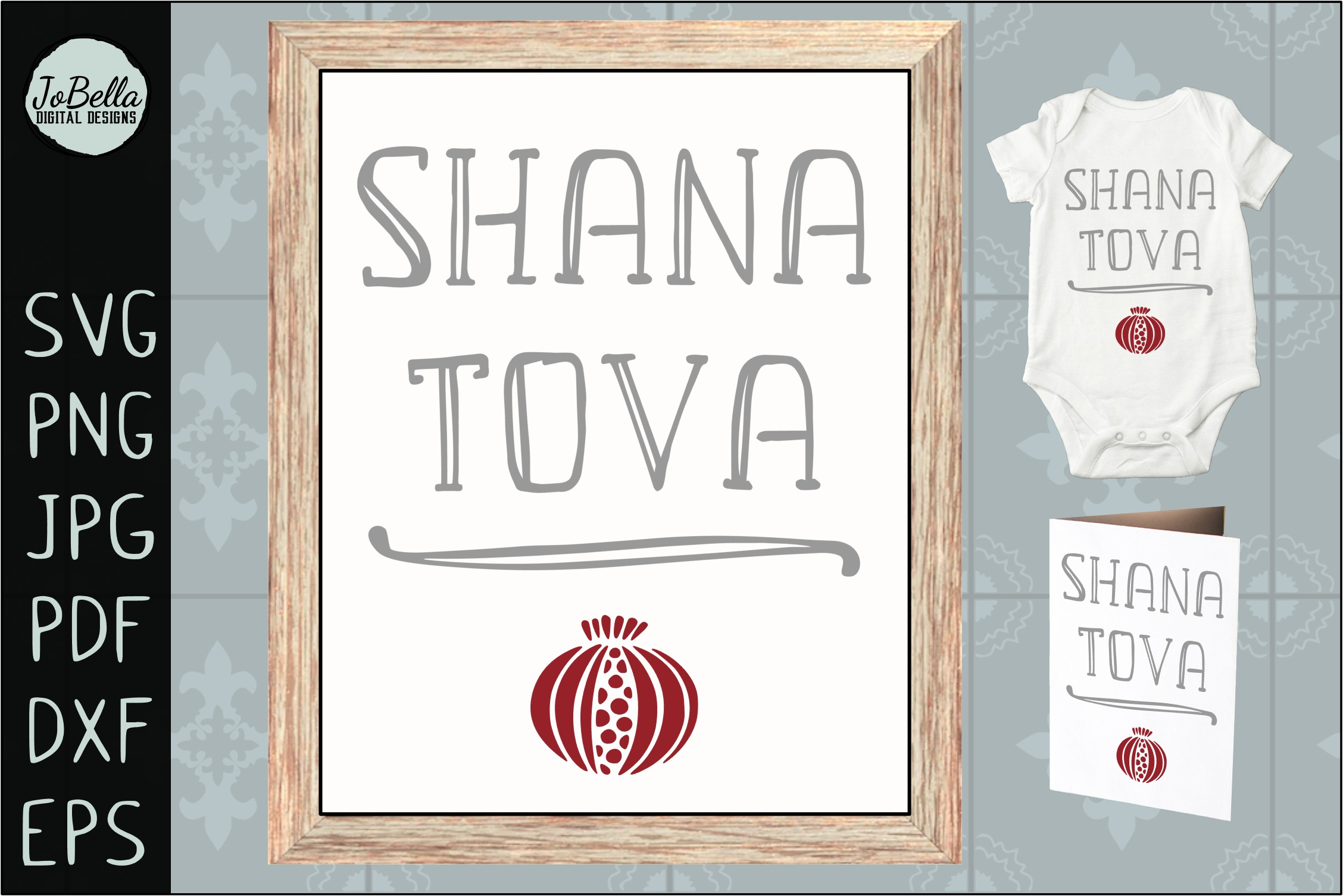 Jewish SVG Bundle, Sublimation PNGs and Printables example image 25