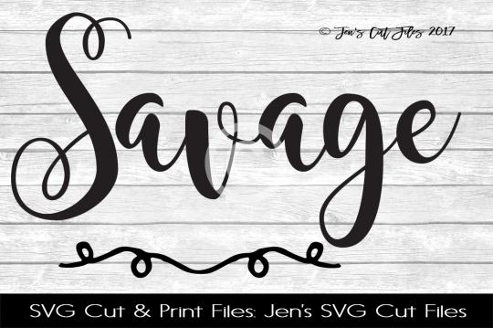 Savage SVG Cut File example image 1