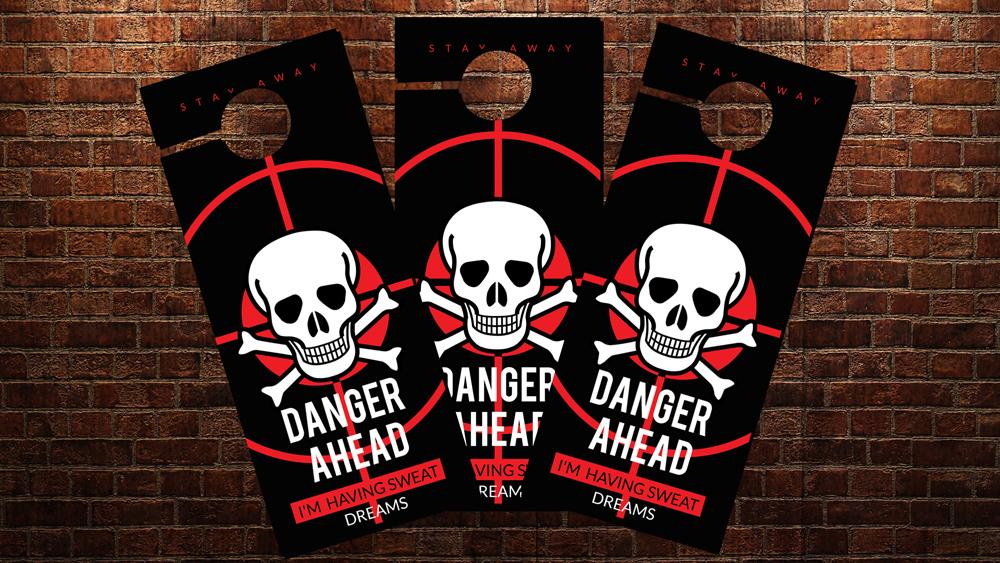 Danger Ahead Door Hangers example image 2