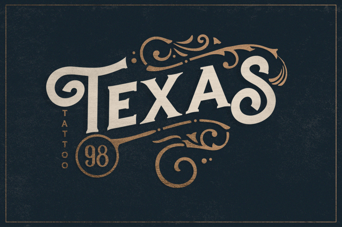 Hartons Vintage Typeface and Extras example image 3