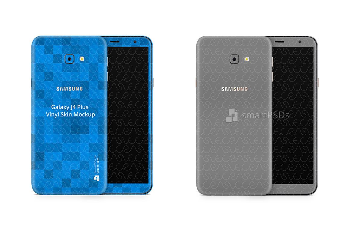 Samsung Galaxy J4 Plus Vinyl Skin Design Mockup 2018 example image 1
