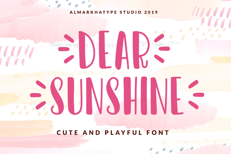 Dear Sunshine example image 1