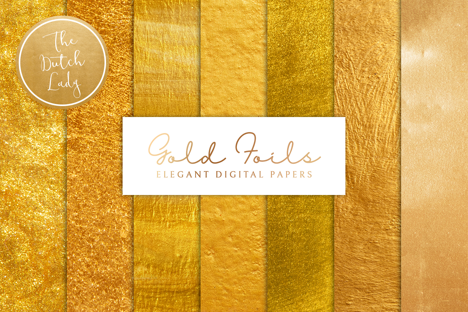 Gold Foil Texture Scrapbook Papers example image 1