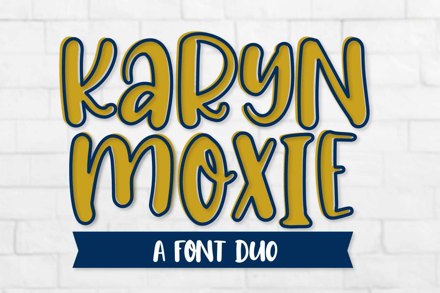 Karyn Moxie - A Font Outlined Duo example image 1
