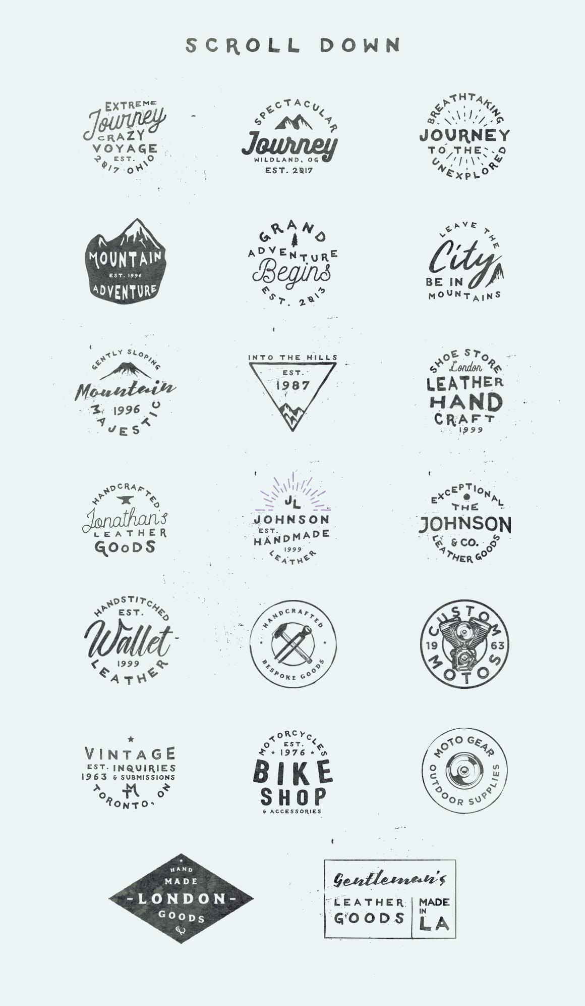 Vol. 4 | 20 Vintage Logo Templates example image 2