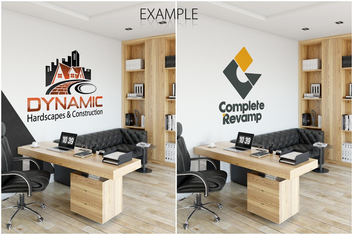 OFFICE Wall Mockup Bundle example image 9