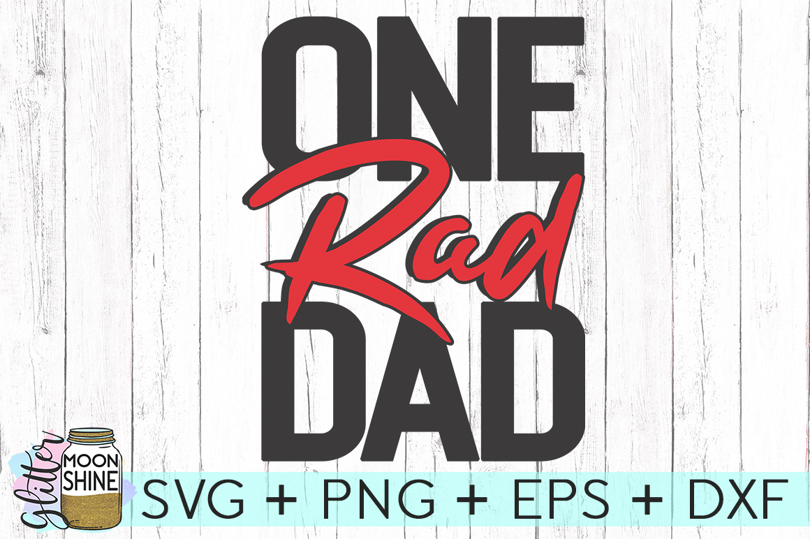 One Rad Dad SVG DXF PNG EPS Cutting Files example image 2