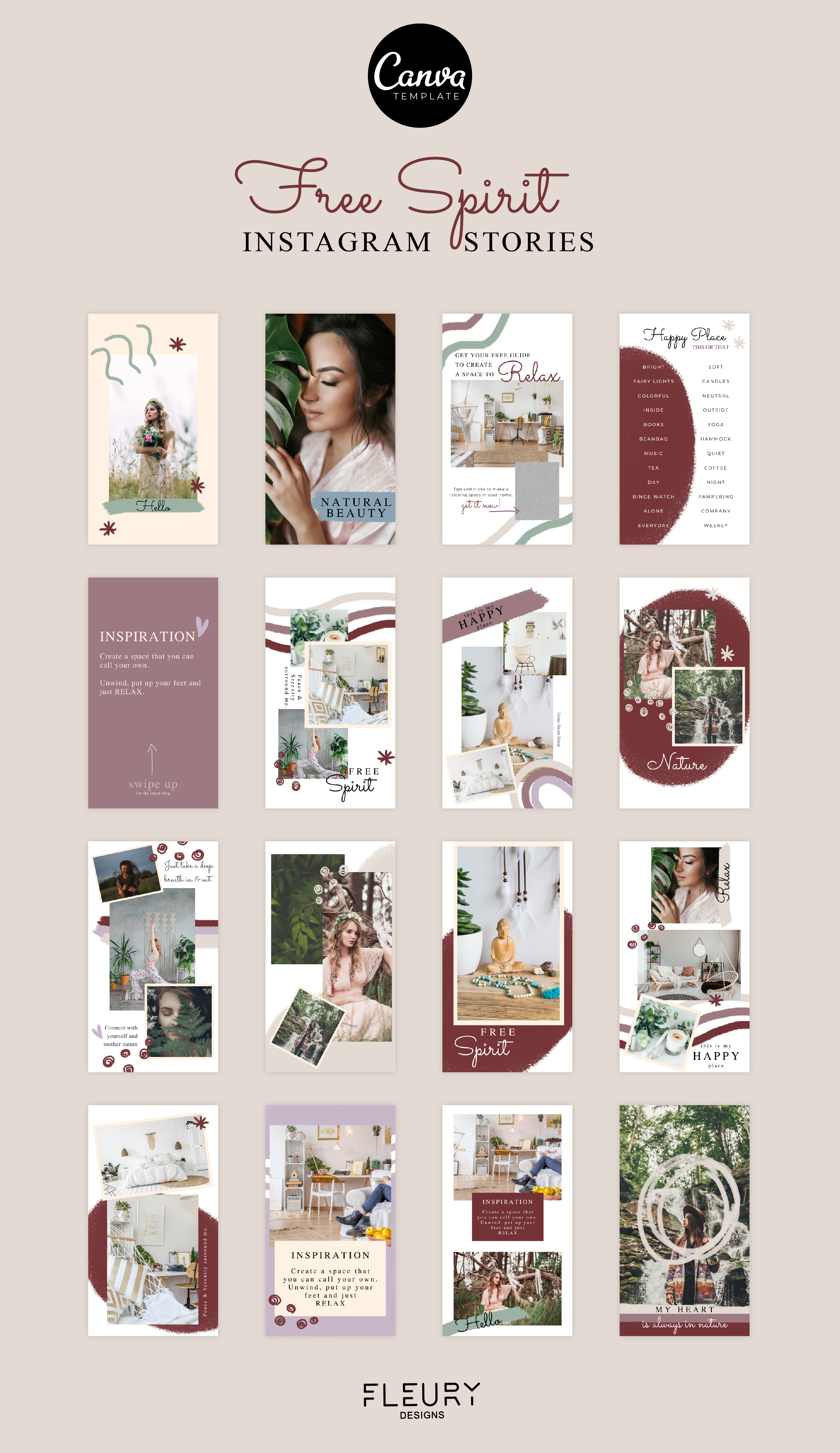Instagram Story Canva Template - Free Spirit example image 4