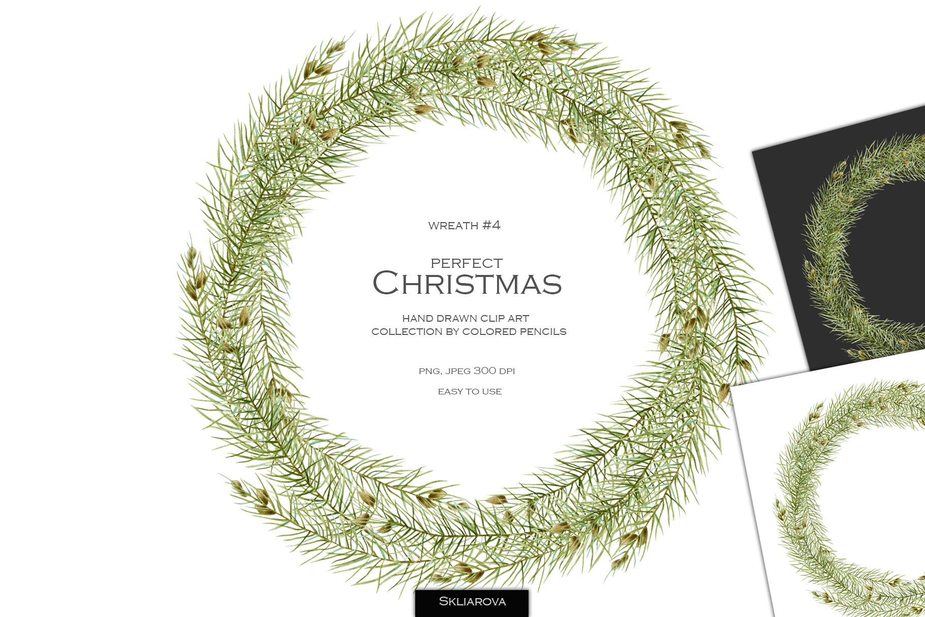 Perfect Christmas. Wreath #4 example image 1