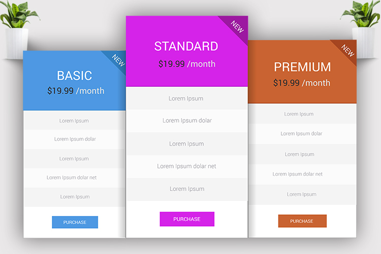 Minimal Pricing Table example image 5