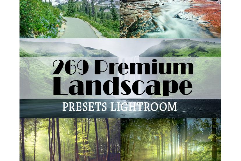 269 Premium Landscape Lightroom Presets (Presets for Lightroom 5,6,CC) example image 1