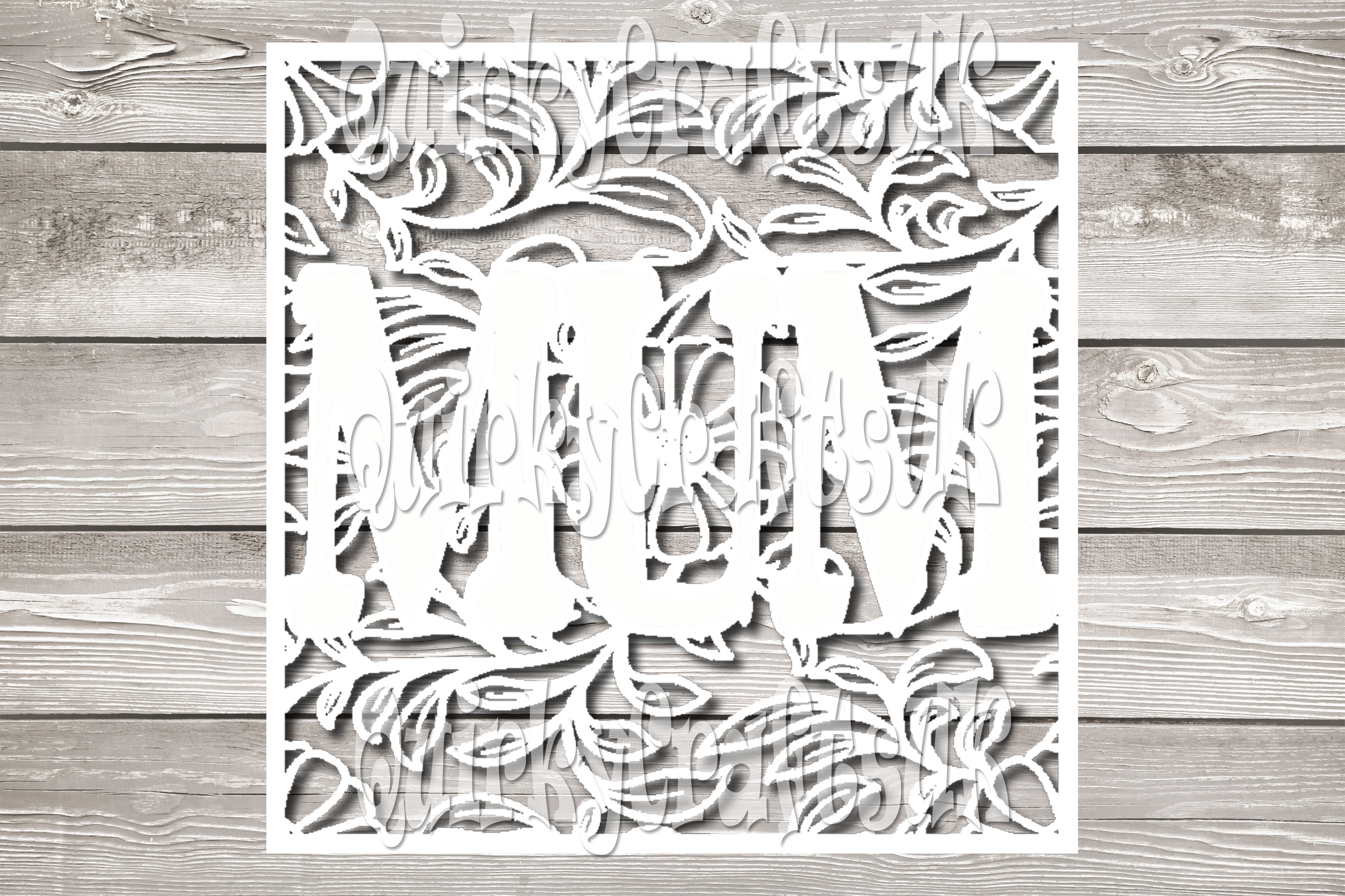 2 sets of MUM floral papercutting templates|PNG/PDF/SVG/DXF example image 2