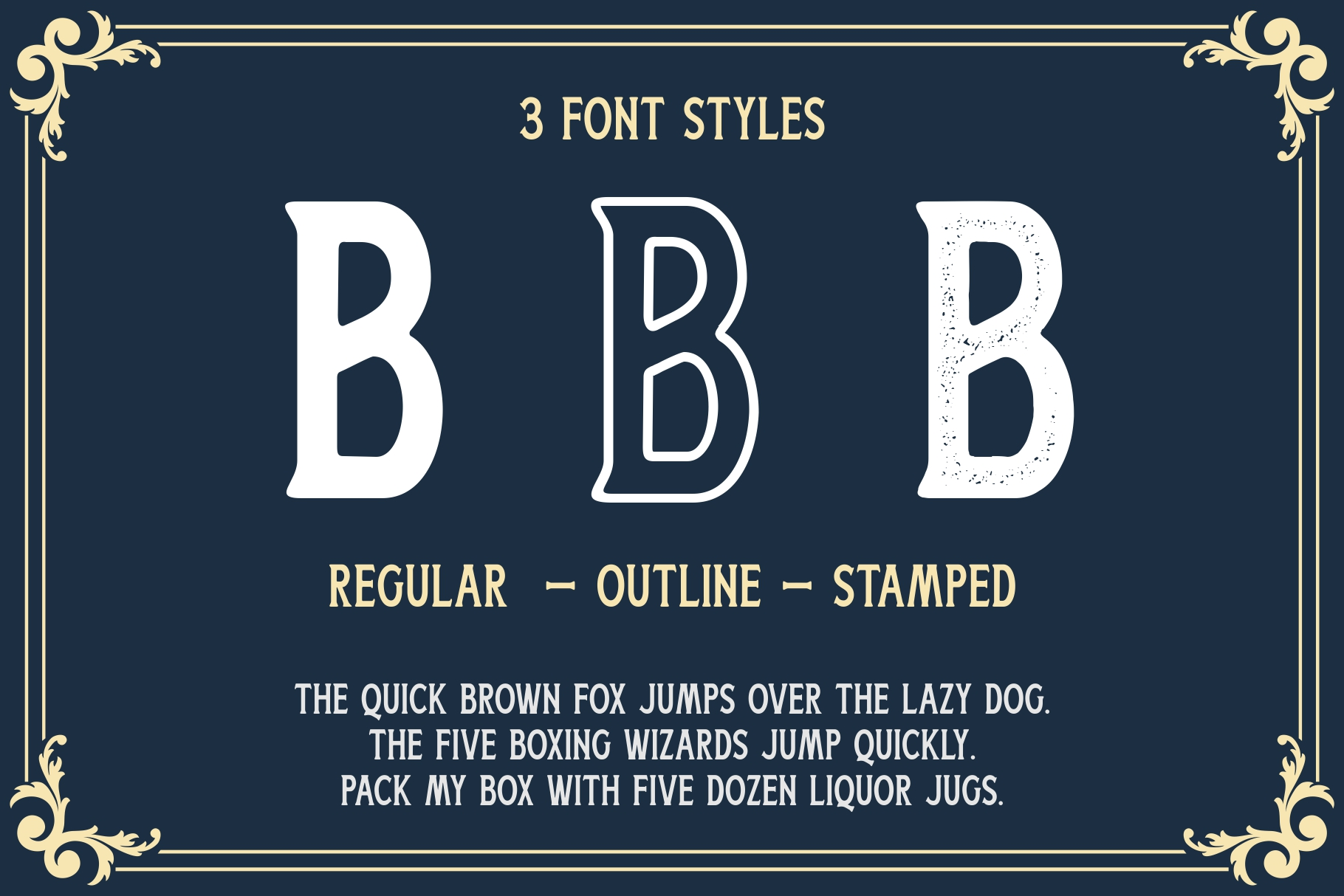 Boatman Font 3 Styles Extras example image 5