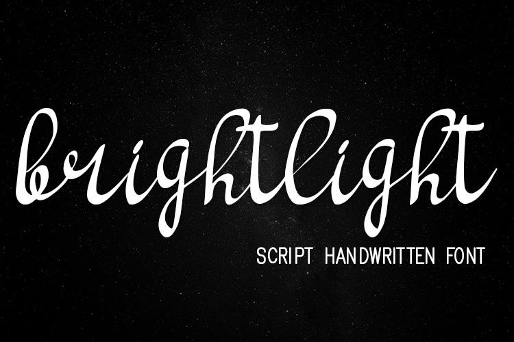 bright light script handwritten font example image 2