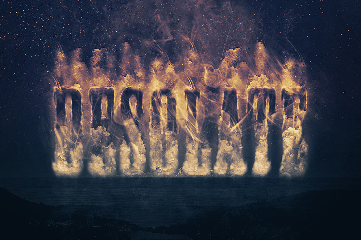 Smoke Logo Text Effect Template example image 6