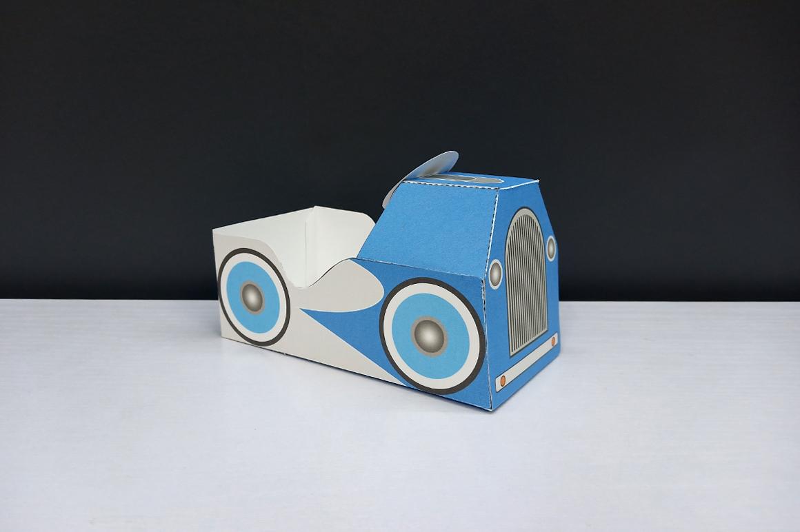 DIY Pedal car favor - 3d papercraft example image 6