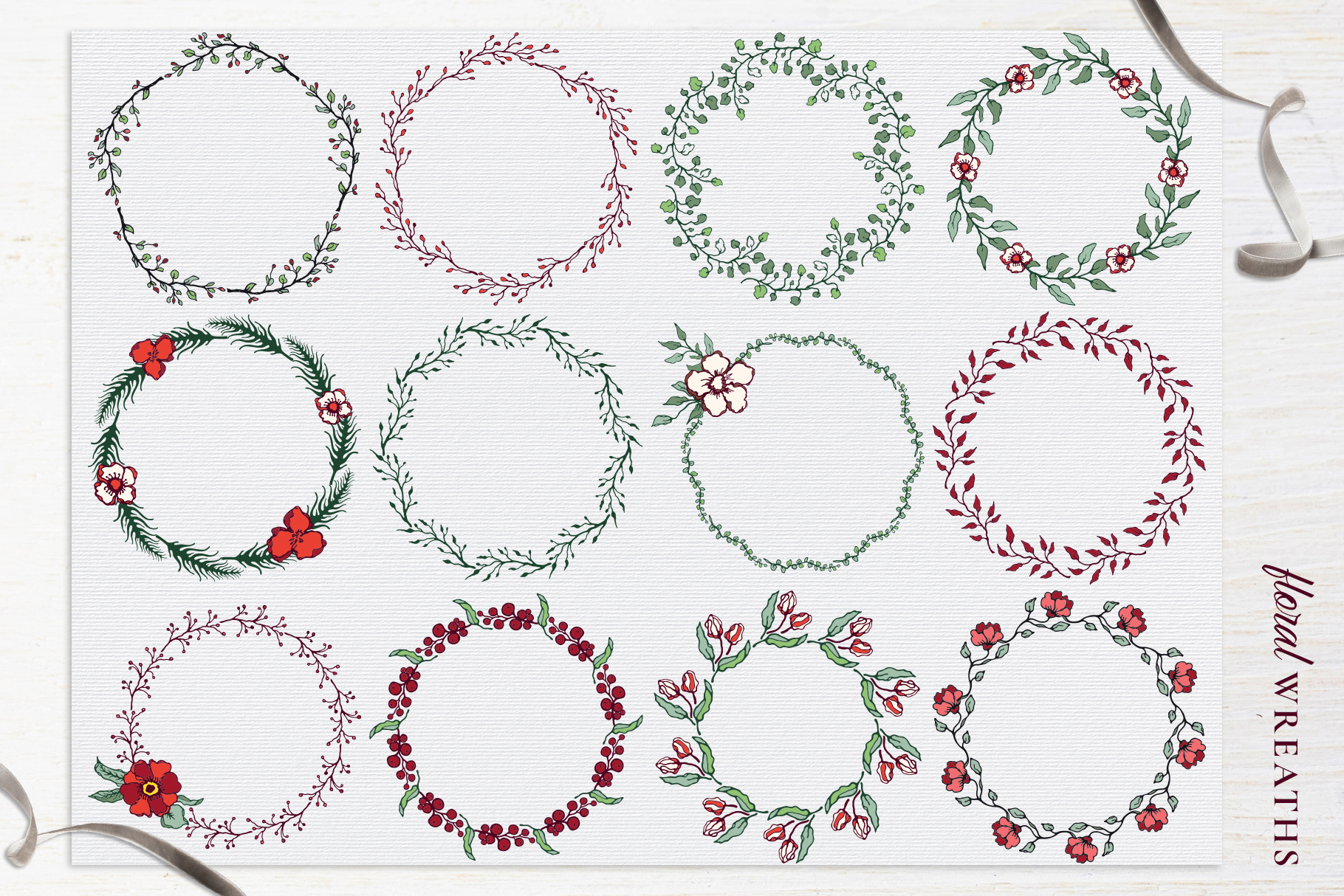 Winter Floral Patterns & Illustrations example image 13