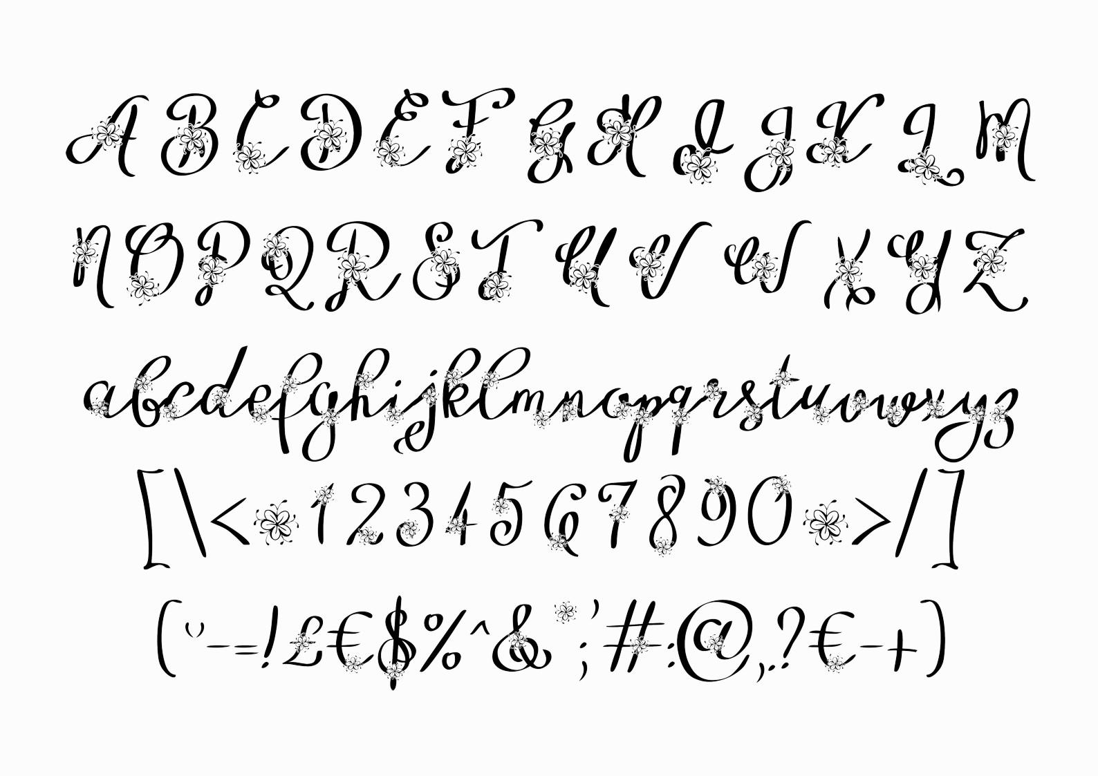 Floryfic font example image 3