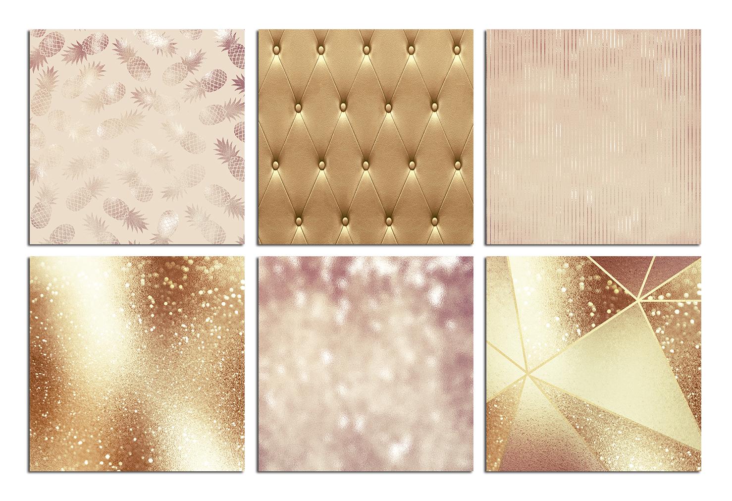 Luxury Rose, Gold, Bronze Textures example image 2