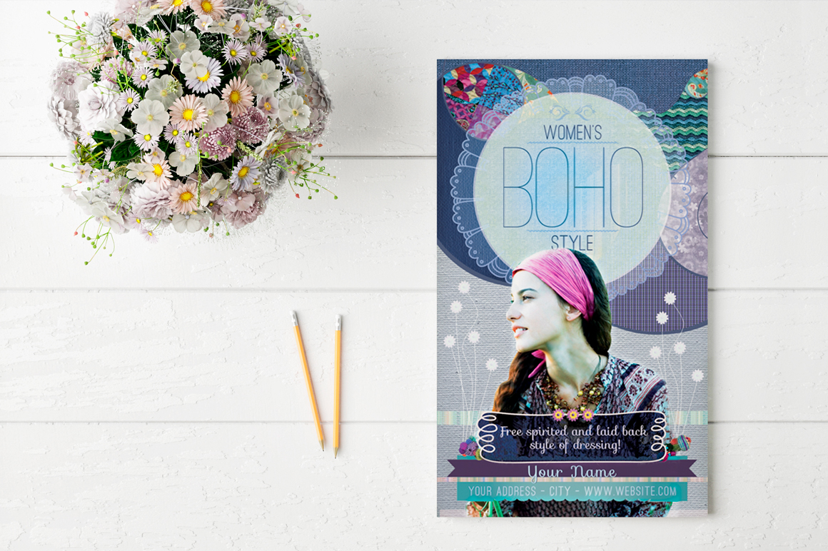 Women's Boho Style Flyer Template example image 2
