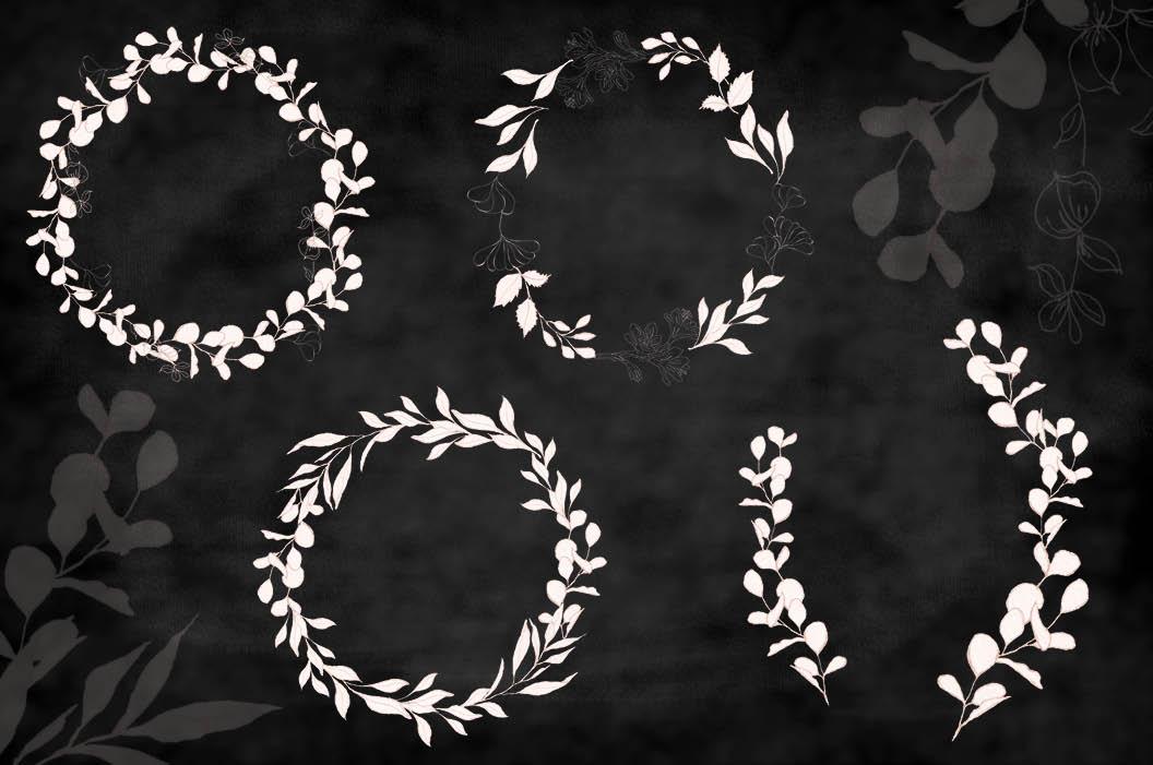 Blush foliage clip art bundle example image 4