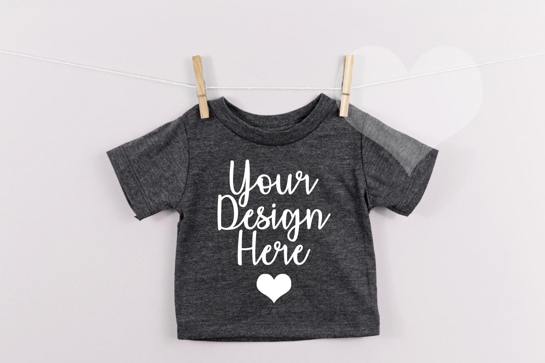 Dark Grey Bella Canvas 3001B, Unisex T-shirt Mockup, Kids example image 1