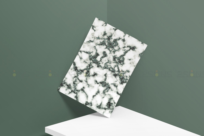 Emerald digital paper, green marble digital paper textures example image 2