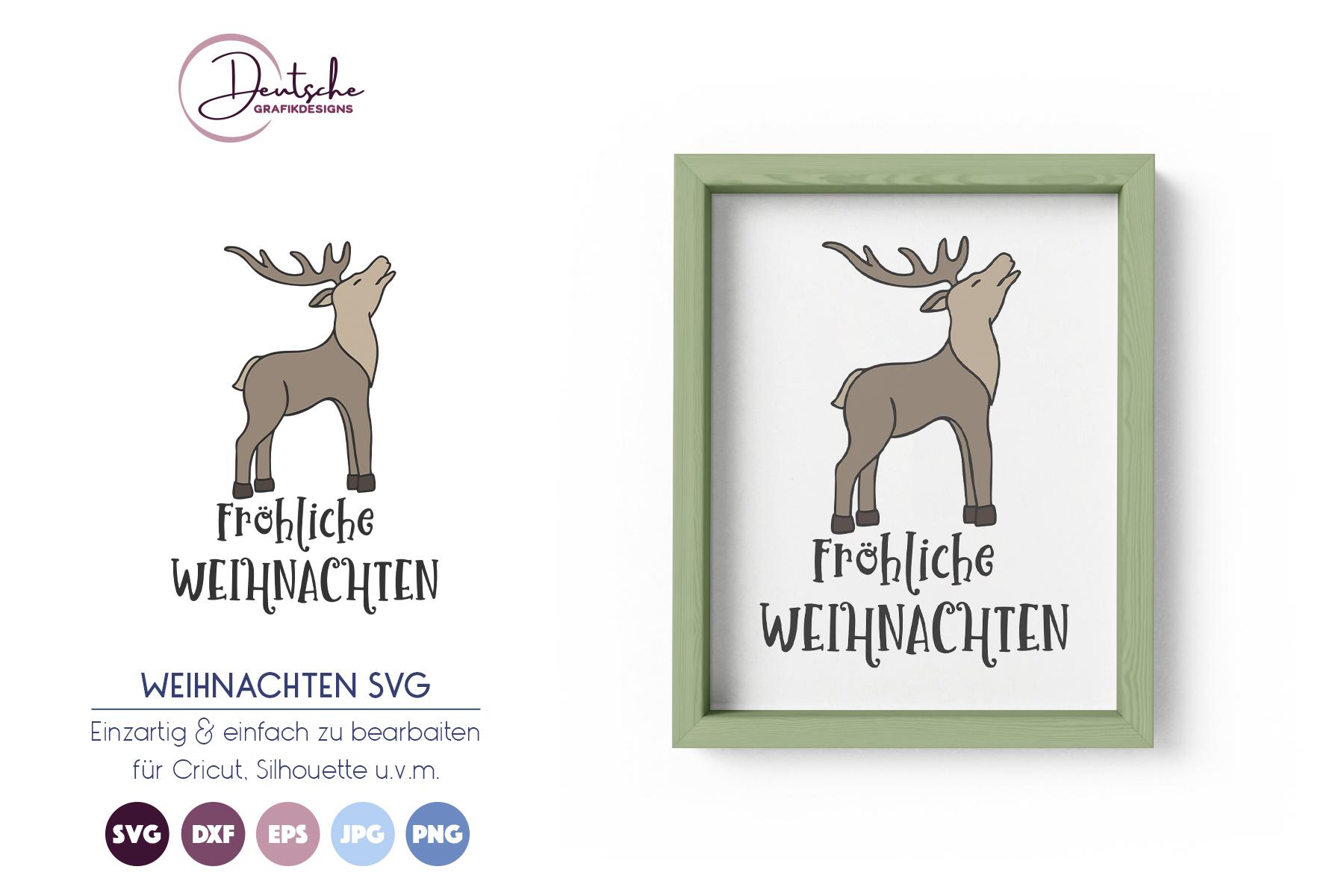Fröhliche Weihnachten SVG | Hirsch SVG example image 1