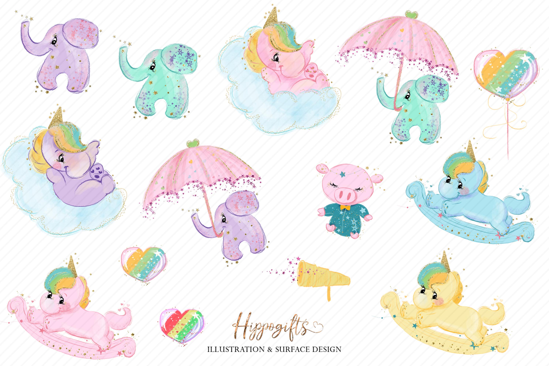 Bears and unicorns clip art example image 4