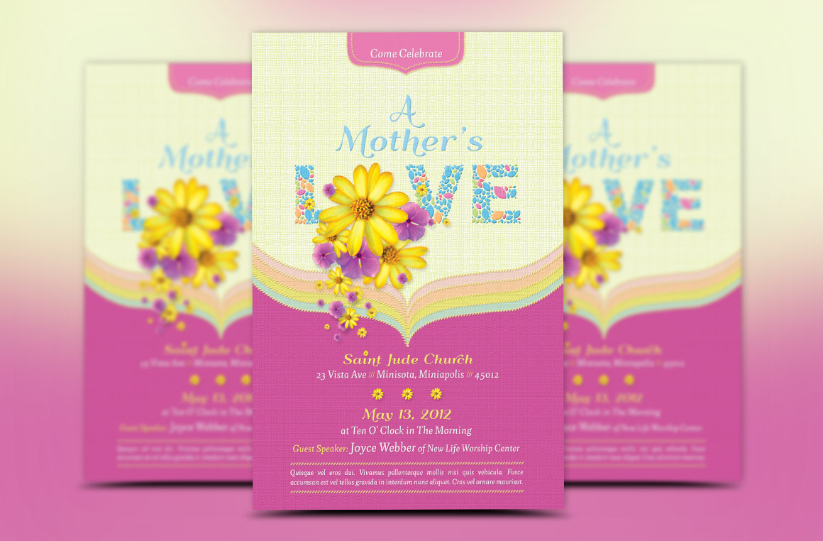 Mothers Love Church Flyer Template example image 2