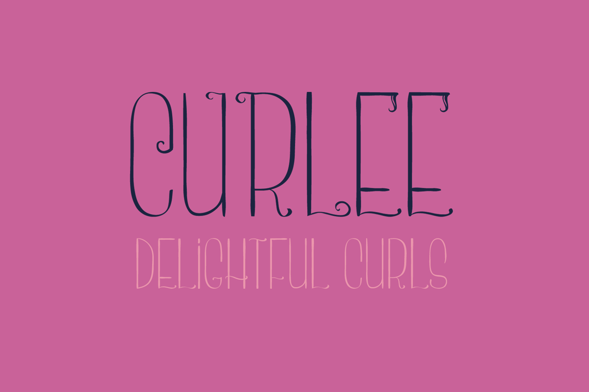 Curlee - A Thin and Curly Font example image 2