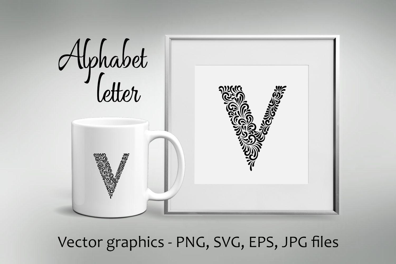 Alphabet Letter V example image 1