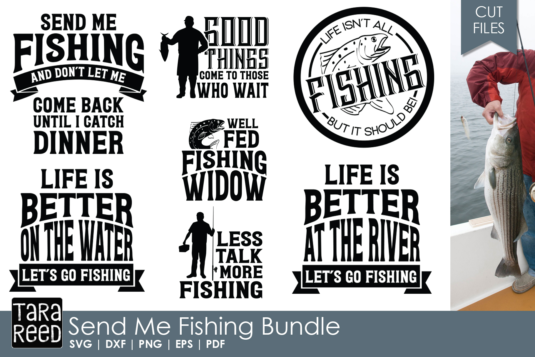Send Me Fishing - SVG and Cut Files for Crafters example image 1