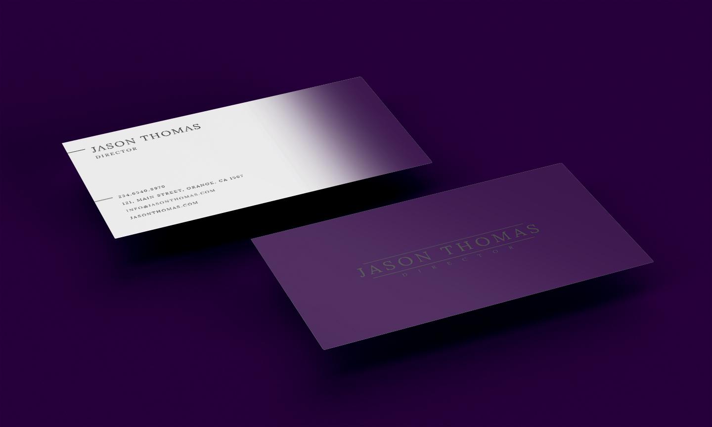 Bright Colour Beautiful Elegant Business Card 6 example image 3