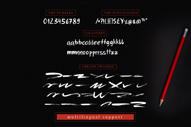 Urbano brush font + swashes example image 5